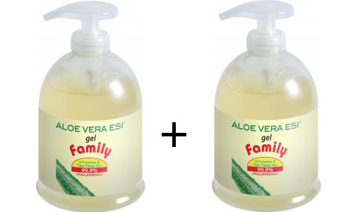 Aloe Vera Gel Family con Tea Tree - Esi - n.2 x 500ml= 1Lt