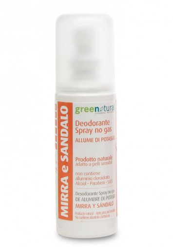 Deodorante Spray Allume di Potassio Mirra e Sandalo - 100ml