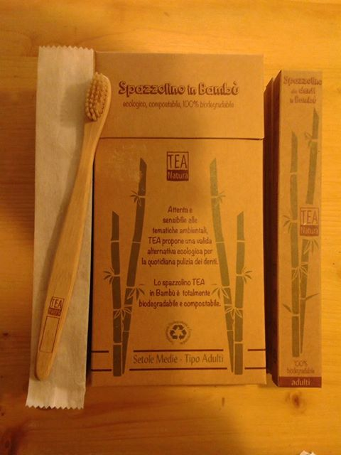 Spazzolino da denti in Bambu - 100% Biodegradabile