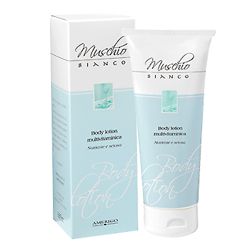 Body Lotion Emulsione Corpo Crema al Muschio Bianco 200ml