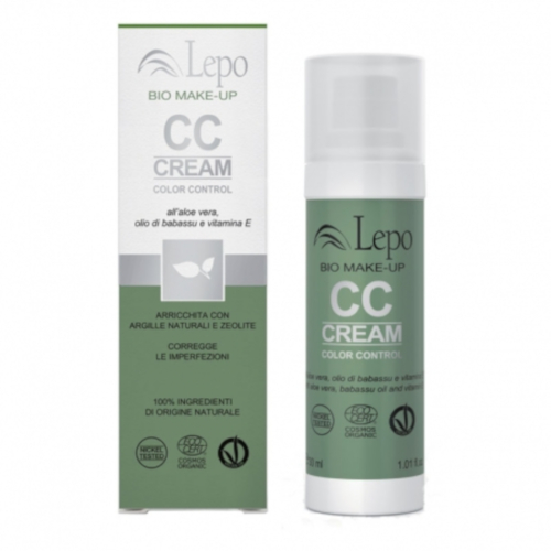 CC Cream Bio Color Control Viso - 2 Beige ambrato 30ml - Lepo
