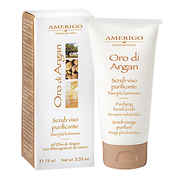 Scrub Viso Purificante all'Olio di Argan - Amerigo - 75 ml