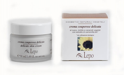 Crema couperose al Mirtillo, Rusco e Ippocastano - 50ml - Lepo